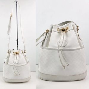 Gucci Small Bucket Should Bag in White Leather